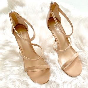 Charles David Strappy Patent Pump Nude